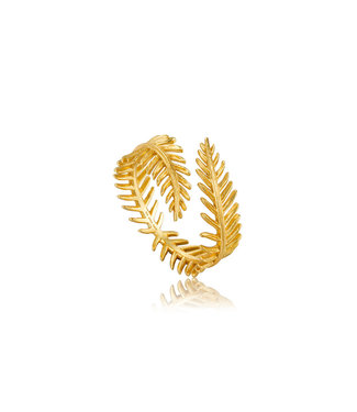 Ania Haie Ring Palm Leaf