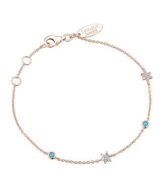 I.Ma.Gi.N. Jewels Armband Flower Turquoise