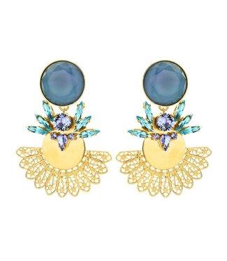 Souvenirs de Pomme Roberta statement earring blue