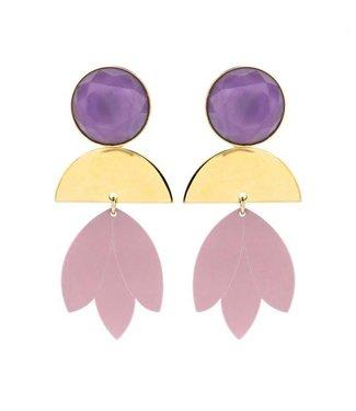 Souvenirs de Pomme Statement Oorring Purple