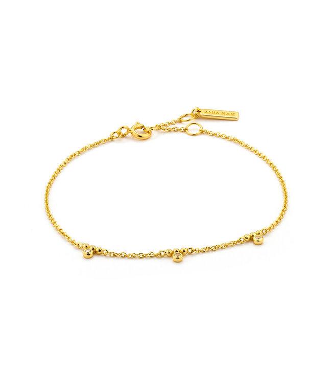 Ania Haie Shimmer Triple stud armband