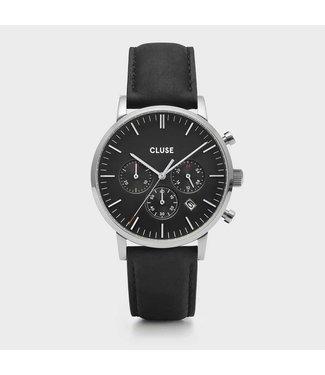 Cluse Uurwerk Aravis Chrono , silver, black/black