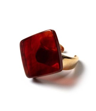 Laurence Delvallez Ring Nappa Amber