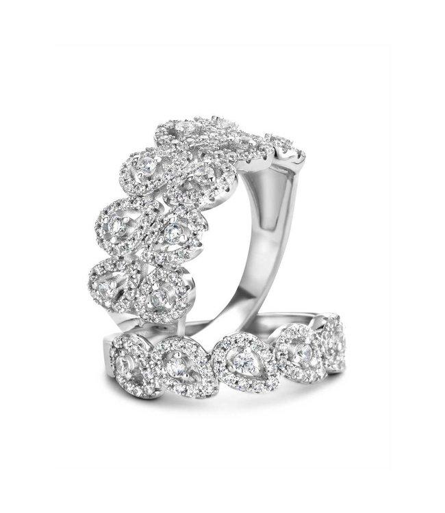 Silver Rose Ring Catharina