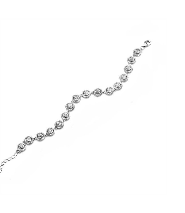 Silver Rose Armband Valerie
