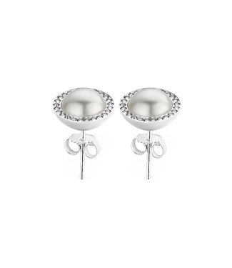 MelanO Oorring FR Pearl cz earring