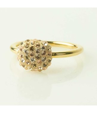 Phantasya Ring Crystal square gold