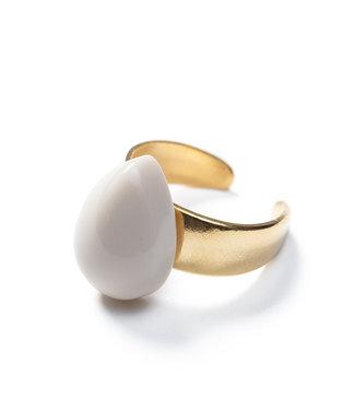 Laurence Delvallez Ring Neru Beige