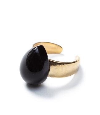 Laurence Delvallez Ring Neru Black