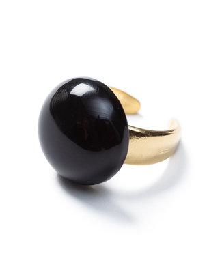 Laurence Delvallez Ring Nezu Black