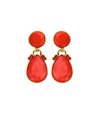 Souvenirs de Pomme Oorring Mini 2drops Red