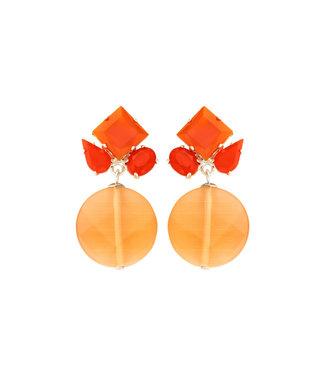 Souvenirs de Pomme Oorring Square Mix Orange
