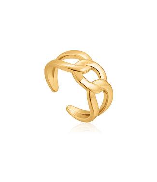 Ania Haie Ring Wide curb chain