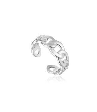 Ania Haie Ring Curb chain zilver