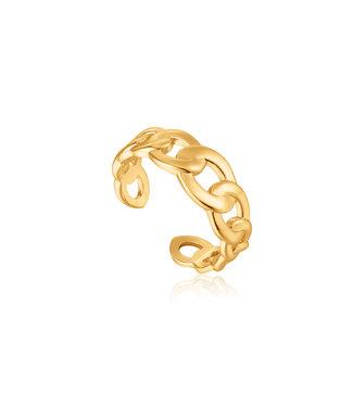 Ania Haie Ring Curb chain goud