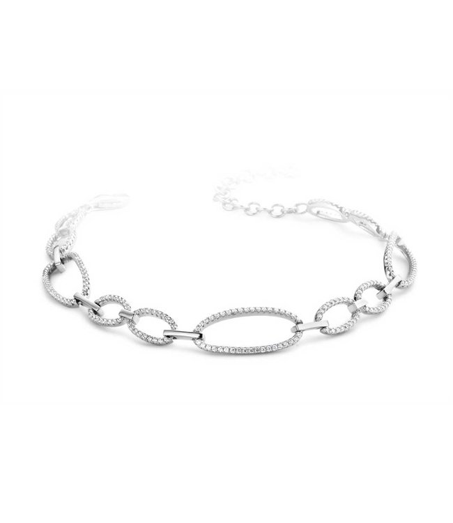 Silver Rose Armband Naomi
