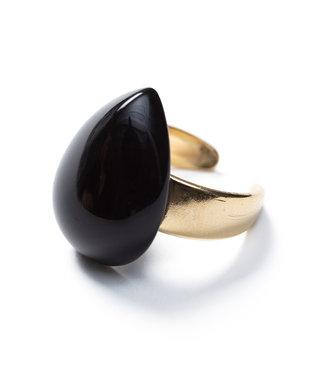 Laurence Delvallez Ring Miro Black