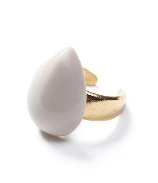 Laurence Delvallez Ring Miro Beige
