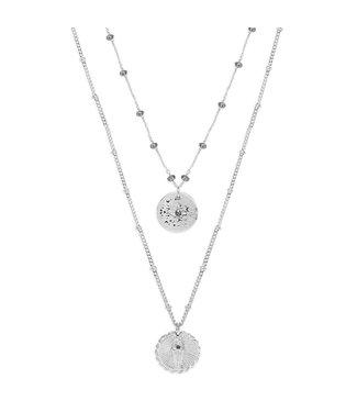 Hipanema Halsketting Shadé silver