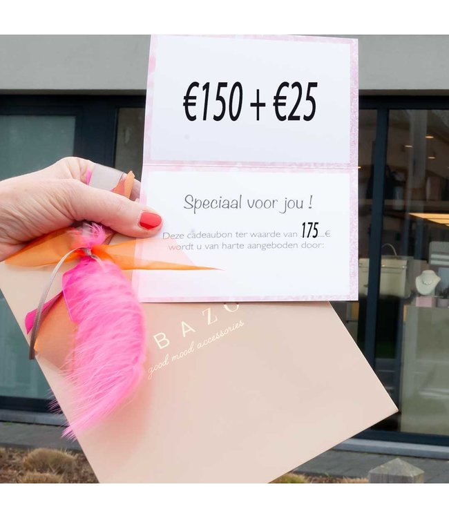 cadeaubon 150 + 25 euro extra