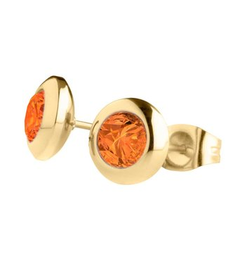 MelanO Magnetic earrings, Gold plated, Ochre