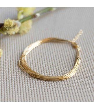 CASA Collection Armband Spaghetti goud AB