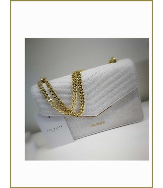 Ted Baker Quilted Envelope Mini Cross Body Ivory