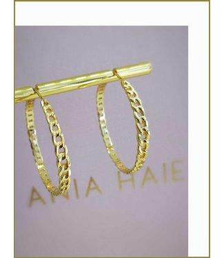 Ania Haie Oorring Curb chain hoop