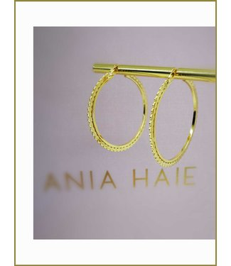Ania Haie Oorring Flat beaded hoop