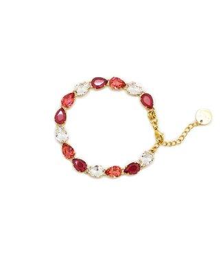 Paviè Armband Sebastiana Crystal/red