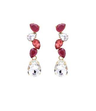 Paviè Oorring Violetta Crystal/red