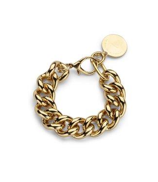 Souvenirs de Pomme Armband Gourmet small chain Gold