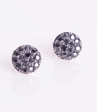 Phantasya Oorring Crystal Sphere stud black