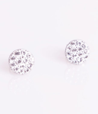 Phantasya Oorring Crystal Sphere stud White