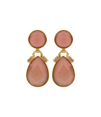 Souvenirs de Pomme Oorring Mini 2 drops Pink