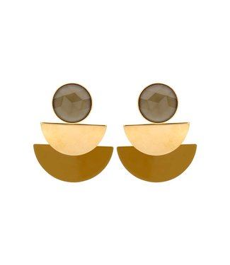 Souvenirs de Pomme Oorring Duo moon Mustard