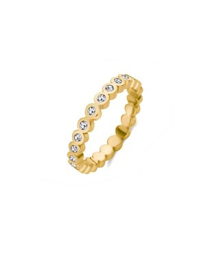 MelanO Friends Wave cz ring
