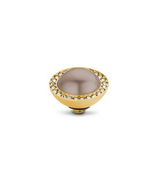 MelanO Twisted Crystal Pearl Bronze setting