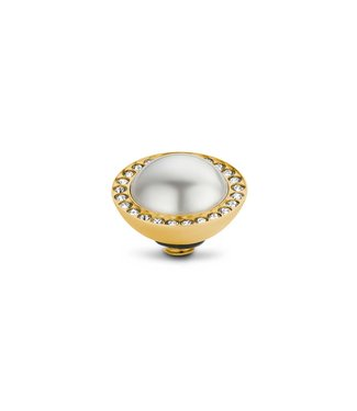 MelanO Twisted Crystal Pearl White setting