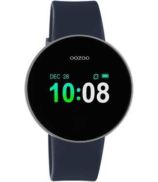 Oozoo Smartwatch donkerblauw - zilver