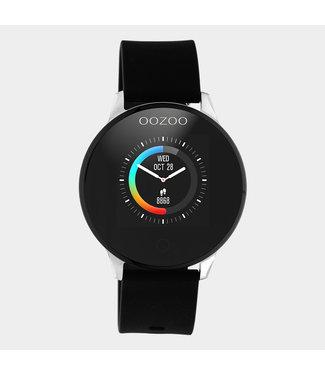 Oozoo Smartwatch rubber zwart/zilver