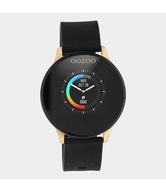 Oozoo Smartwatch rubber band zwart/rosé goud