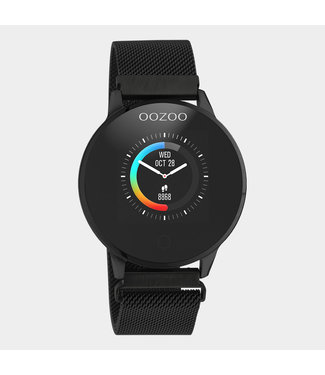 Oozoo Smartwatch Mesh Zwart/Zwart