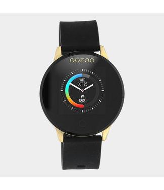 Oozoo Smartwatch Rubber Zwart/Goud