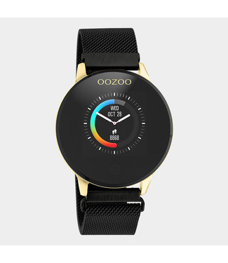 Oozoo Smartwatch Mesh Zwart/Goud