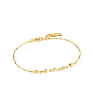 Ania Haie Armband Gold spike