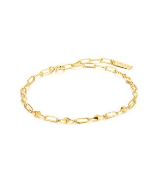 Ania Haie Armband Gold heavy spike