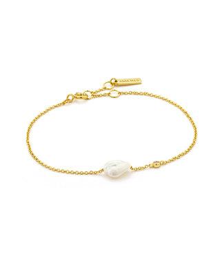 Ania Haie Armband Gold pearl