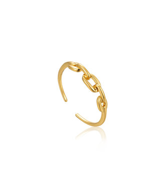 Ania Haie Ring adjustable gold links