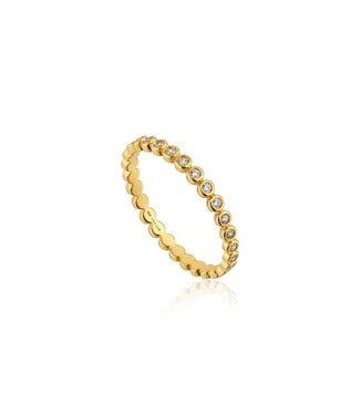 Ania Haie Ring Gold Shimmer half eternity